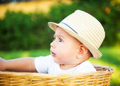 Little boy in a hat — Stock Photo