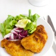 Chops in breadcrumbs — Stock Photo
