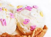 Creamy ice-cream cone — Stock Photo