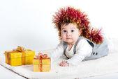 Lilla söta tjejen — Stockfoto