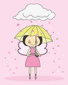 Hada con un paraguas — Vector de stock