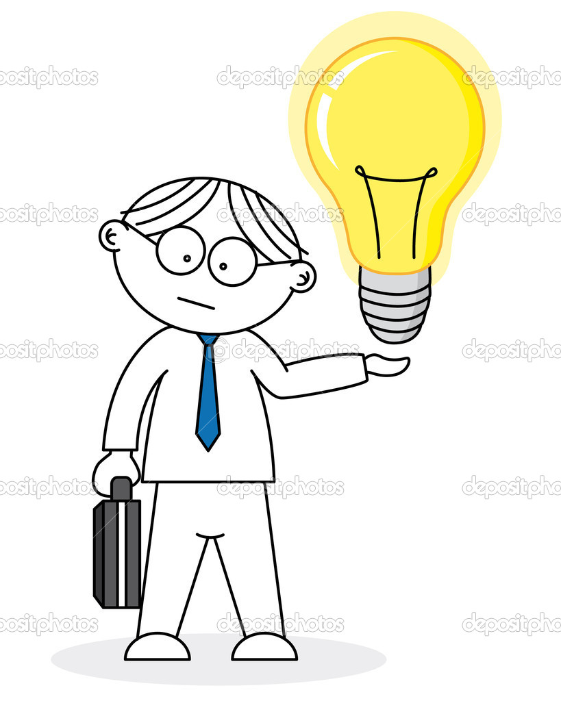 Businessman. Creative having an idea  Stock Vector #12735187