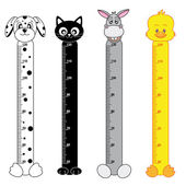 Bumper children meter wall — Vetor de Stock