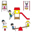 Royalty-Free Stock Imagen vectorial: Kids playing at the park