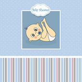 Baby boy birth card — Vecteur