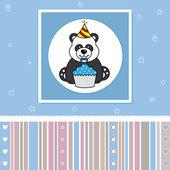 Panda s košíček — Stock vektor