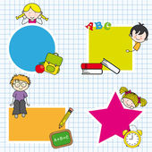 Education and school icon set — Stock Vector
