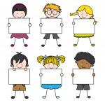 Cute cartoon kids frame — Stock Vector