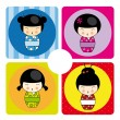 Royalty-Free Stock Vektorgrafik: Kokeshi dolls
