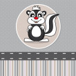 Skunk — Stock Vector