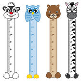 Bumper children meter wall. Animals Stickers — Vecteur