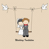Wedding invitation — Wektor stockowy