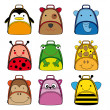 Backpacks for school children — Vettoriali Stock