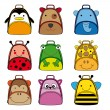Backpacks for school children — Image vectorielle