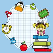 Edukacji i szkole zestaw ikon — Wektor stockowy