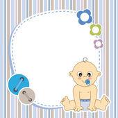 Baby boy card — Cтоковый вектор