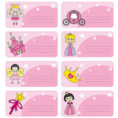 Tags princesses. space for text — Stock Vector