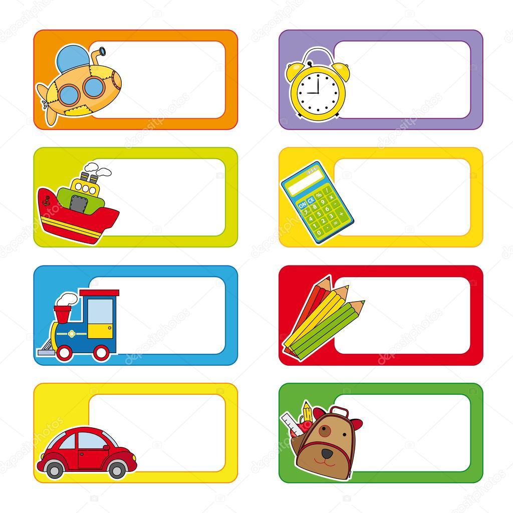 Stock Illustration School Labels