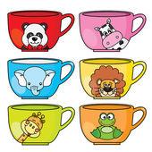 Cup dieren — Stockvector