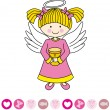 Angel with a chalice — Vector de stock