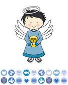 Boy first communion — Stock Vector