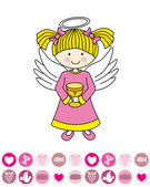 Angel with a chalice — Stock Vector