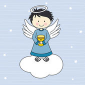 Angel on a cloud — Stock Vector