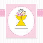 Meisje van de baby in de heilige graal — Vector de stock