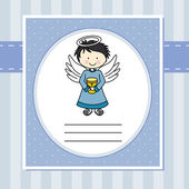 Boy first communion — Vector de stock
