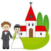 Wedding invitation — ストックベクタ