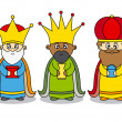 Three kings vector — Stock Vector