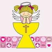 Anioł w Święty Graal — Wektor stockowy