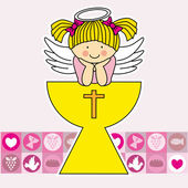 Engel in der heilige gral — Stockvektor