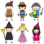 Children dressed — Stock Vector #40517157