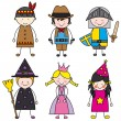 Children dressed — Stock Vector