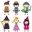 Stock Vector: Children dressed