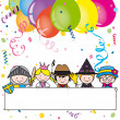 Stock Vector: Costume party card