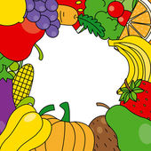 Fruits and vegetables — Vector de stock