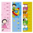 Stock Vector: Children height meter