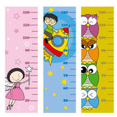 Children height meter — Stock Vector