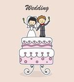Pozvánka na svatbu — Stock vektor