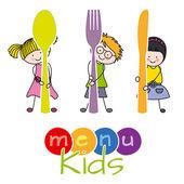 Děti menu — Stock vektor