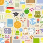 Background school icons — Stock Vector