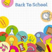 School icons card — ストックベクタ
