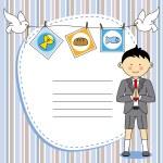 First Communion Invitation Card. Boy — Stock Vector #48108701