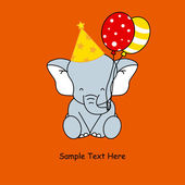大象的生日 — 图库矢量图片