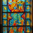 Stained-glass window. Made in USSR — Stock Photo #13949762