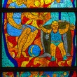 Stained-glass window. Made in USSR — Stock Photo #13949775
