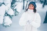 Rapariga do inverno — Foto Stock