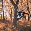 Man climbing tree - Stock Photo